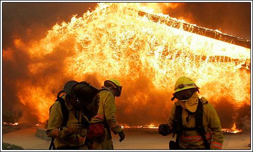 El fuego en California afecta a la industria de la televisión