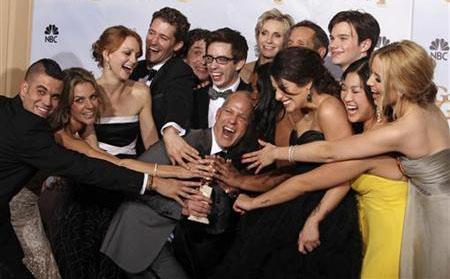 Mad Men y Glee triunfan en los Globos de Oro