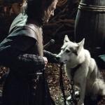 Ned Stark y huargo