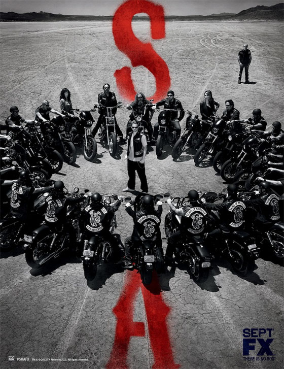 Póster de la quinta temporada de Sons of Anarchy