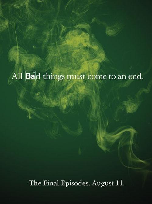 Póster de los últimos episodios de Breaking Bad