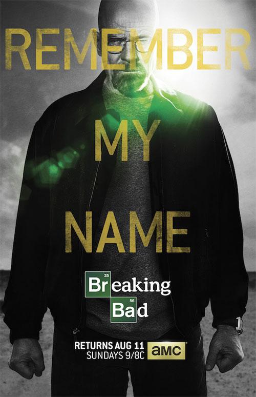 Póster oficial de los últimos episodios de Breaking Bad