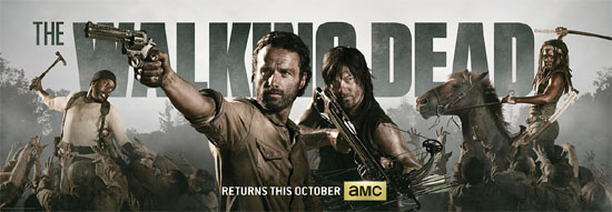 Póster de la cuarta temporada de The Walking Dead
