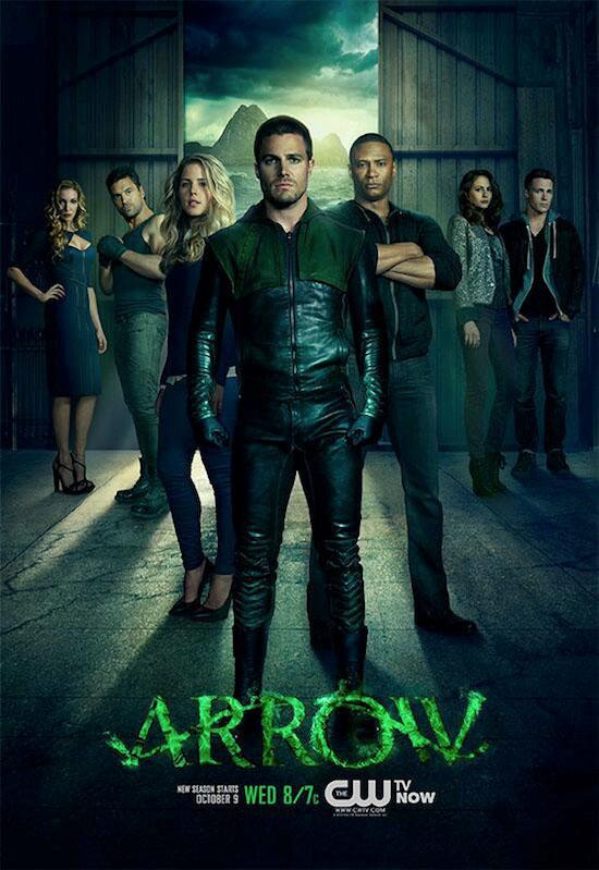 Póster oficial de la segunda temporada de Arrow