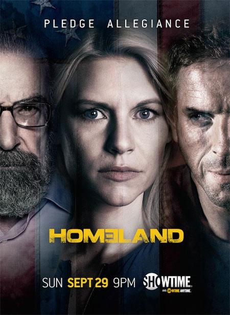 Póster oficial de la tercera temporada de Homeland
