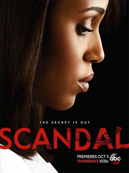Póster de la tercera temporada de Scandal