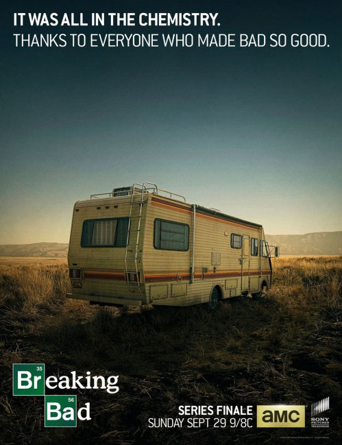 Póster del episodio final de Breaking Bad