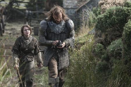 hablandoenserie - Juego de Tronos Sandor y Arya