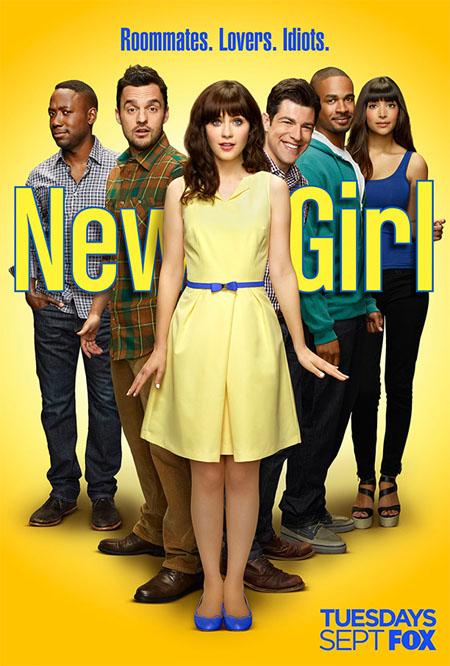 Póster de la cuarta temporada de New Girl