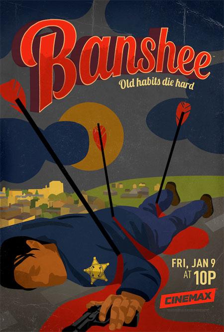 Póster y fecha de estreno de la tercera temporada de Banshee