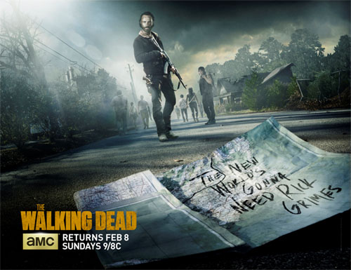 Póster del regreso de la quinta temporada de The Walking Dead